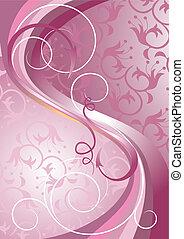 Olas y rayas en una luz púrpura