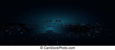 Oleada de agua con burbujas