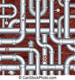 Oleoducto industrial sin vector
