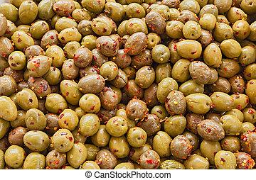 Olivos con pimienta