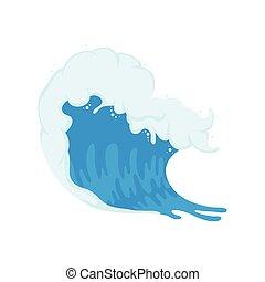 onda océano, agua
