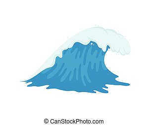 onda océano, azul