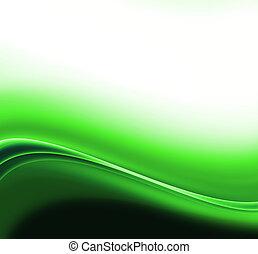 Ondas abstractas verdes de fondo