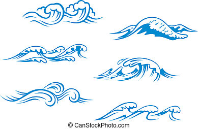 Ondas azules de mar