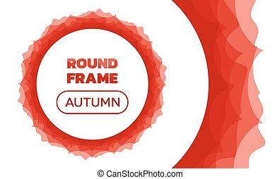 Ondas de superposición - alrededor del marco de otoño