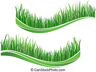 Ondas verdes de hierba