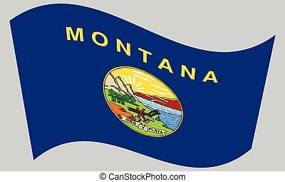 ondulación, gris, bandera, montana, plano de fondo