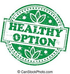 opción, estampilla, sano