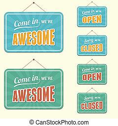 open/closed, señal
