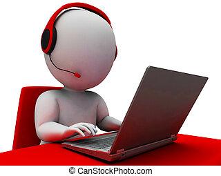 Operador de línea directa de apoyo