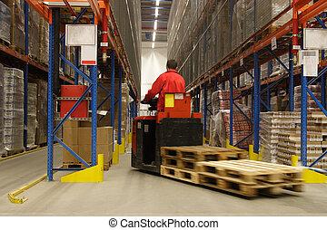 Operador de sobornos en el almacén
