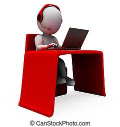 operador, helpdesk, hotline, apoyo, exposiciones