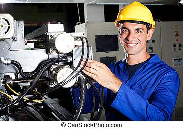 Operador industrial en el trabajo