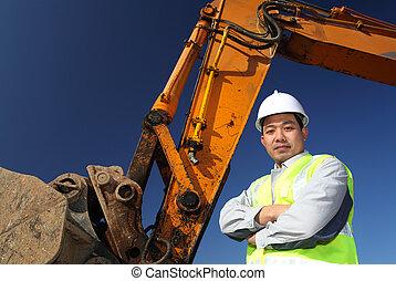 Operadora de un excavador