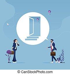 oportunidad, desafíos, concepto, manera, forward-business
