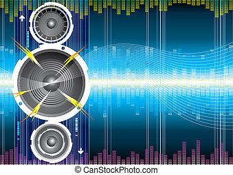 orador, audio, onda