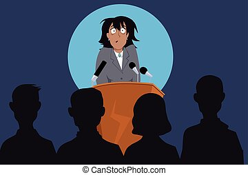 oratoria, público, miedo