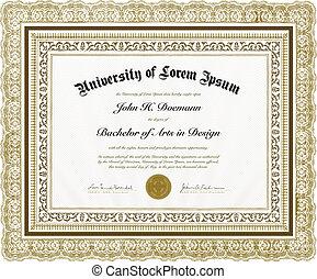 Ordenador de vectores diploma y marco