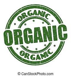 orgánico, grunge, sello de goma