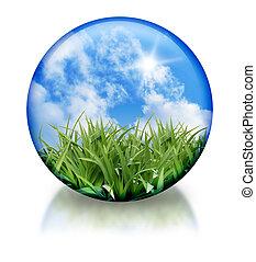 orgánico, orbe, icono, círculo, naturaleza