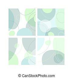 orgánico, plano, formas, liso, plano de fondo
