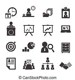 Organización y icono de gestión de negocios