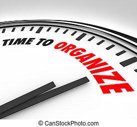 organizar, reloj, momento, tiempo, coordenada, ahora, orden