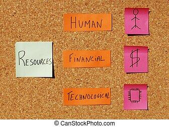 organizativo, concepto, recursos