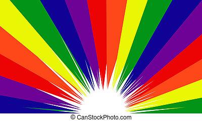 Orgullo gay color arco iris fondo