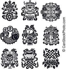 oriental, emblema, prospere