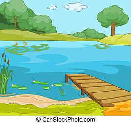 orilla, lago