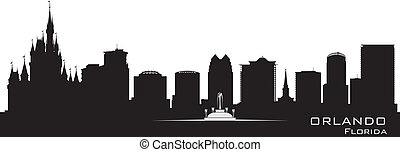 Orlando, Florida Skyline. Silueta de la ciudad