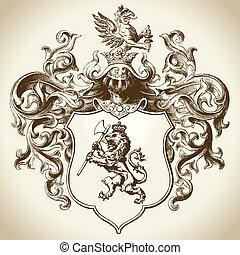 Orna el emblema heráldico