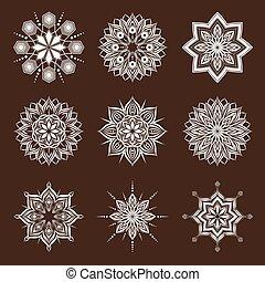 Ornamental de flores geométricas