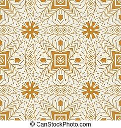 ornamental, seamless, patrón, étnico, estilo, fondo., vector