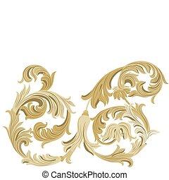 Ornamento clásico dorado