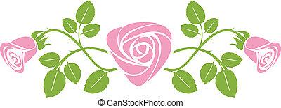 Ornamento con rosas