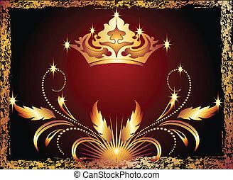 Ornamento de cobre y corona