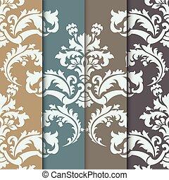 Ornamento de diseño Vector damasco