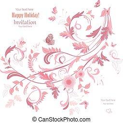 Ornamento de flores para tu diseño