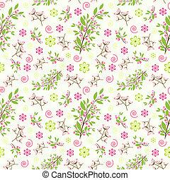 Ornamento floral sin costura