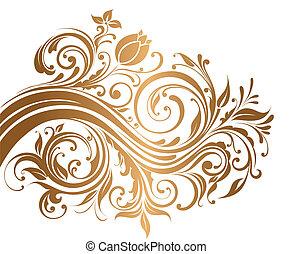 ornamento, oro