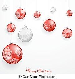 Ornamentos de Navidad Rojos