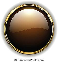 oro, botón