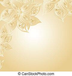 Oro con adorno floral