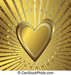 Oro con corazón