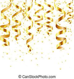 oro, curling, corriente