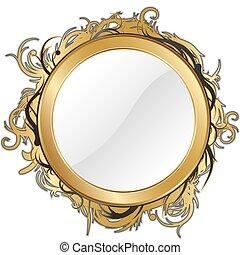 oro, espejo