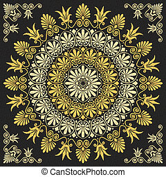 Oro griego floral de vector