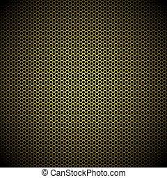 Oro Hexagon de fondo de metal dorado